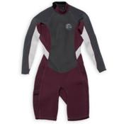 O'Neill Bahia Long Sleeve Spring Womens Shorty Wetsuit 2016, Myers-Graphite-Lunar, medium
