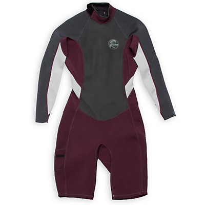 O'Neill Bahia Long Sleeve Spring Womens Shorty Wetsuit 2016, Myers-Graphite-Lunar, viewer
