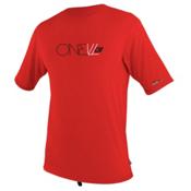 O'Neill Skins Short Sleeve Rash Tee, Red, medium