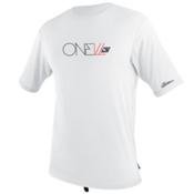 O'Neill Skins Short Sleeve Rash Tee, White, medium