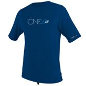O'Neill Skins Short Sleeve Rash Tee, Deep Sea, medium