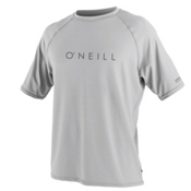 O'Neill 24-7 Tech Short Sleeve Crew Mens Rash Guard, Lunar, medium