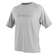 O'Neill 24-7 Tech Short Sleeve Crew Mens Rash Guard, Lunar, medium