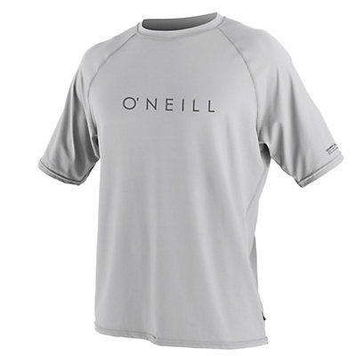 O'Neill 24-7 Tech Short Sleeve Crew Mens Rash Guard, Lunar, viewer