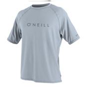 O'Neill 24-7 Tech Short Sleeve Crew Mens Rash Guard, Fog Blue, medium
