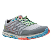 Merrell Bare Access Trail Womens Shoes, Light Grey-Coral, medium