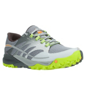 Merrell All Out Charge Mens Shoes, Grey-Lime Green, medium
