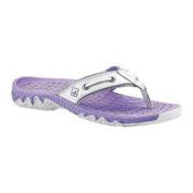 Sperry Son-R Pulse Thong Womens Flip Flops, White-Lavender, medium