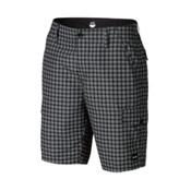 Oakley Hybrid Cargo Board Shorts, Black Plaid, medium