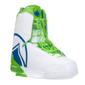 Liquid Force Harley Wakeboard Bindings, White-Green-Blue, medium