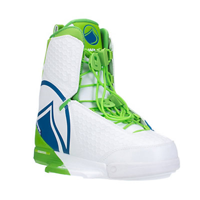 Liquid Force Harley Wakeboard Bindings, White-Green-Blue, viewer