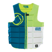 Liquid Force Flex Comp Adult Life Vest 2015, Blue-Green-White, medium