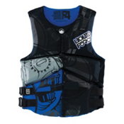 Liquid Force Watson Adult Life Vest, Black-Blue, medium