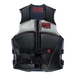 Liquid Force Reflex Adult Life Vest, Black-Red, 256
