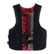 Liquid Force Vortex Adult Life Vest 2015, Black-Red, medium