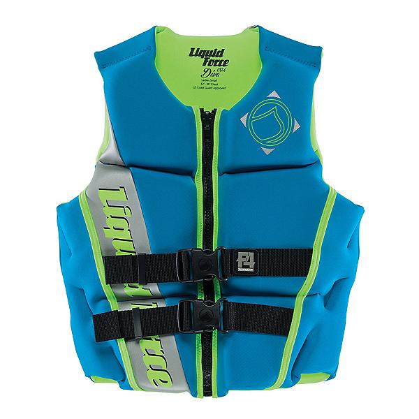 Liquid Force Diva Womens Life Vest, Aqua-Green, 600