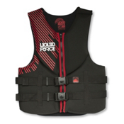 Liquid Force Hinge Classic Adult Life Vest 2017, Black-Red, medium