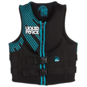 Liquid Force Hinge Classic Womens Life Vest 2017, Black-Aqua, medium