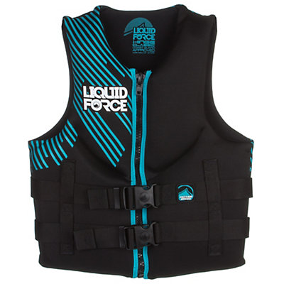 Liquid Force Hinge Classic Womens Life Vest 2016, Black-Aqua, viewer