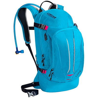 CamelBak L.U.X.E. Hydration Pack, Atomic Blue-Black Iris, viewer