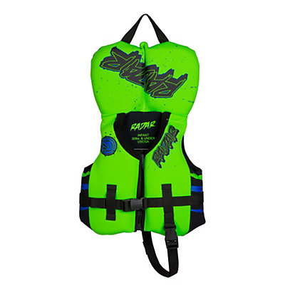 Radar Skis Hideo Infant Life Vest, Neon Orange-Green, viewer