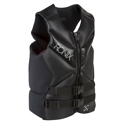 Ronix Pulse Capella Adult Life Vest 2017, Black-Metallic Silver, viewer