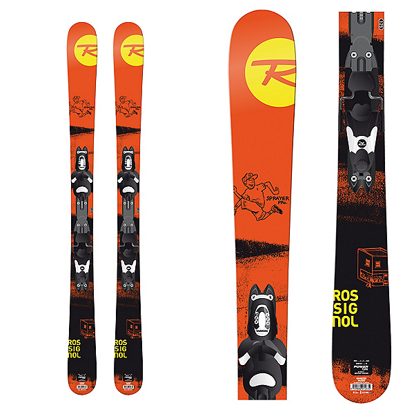 Rossignol Sprayer Pro Jr. Kids Skis with Comp J 45 Bindings, , 600