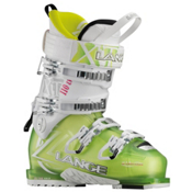 Lange XT 110 L.V. W Womens Ski Boots, Transparent Lime-White, medium