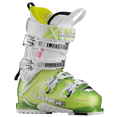 Lange XT 110 L.V. W Womens Ski Boots, Transparent Lime-White, viewer
