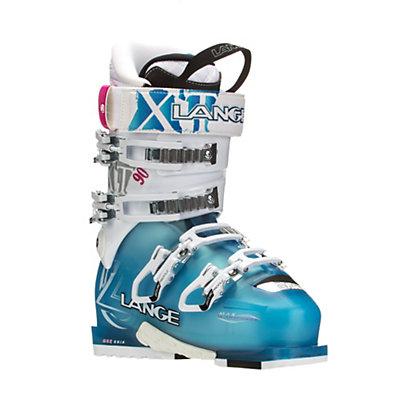 Lange XT 90 W Womens Ski Boots, Transparent Blue-White, viewer