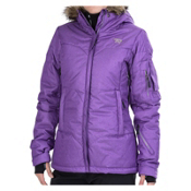 Rossignol Sky Down Womens Insulated Ski Jacket, Fushia, medium