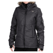 Rossignol Sky Down Womens Insulated Ski Jacket, Black, medium
