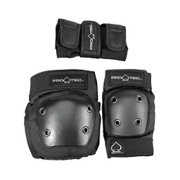 Pro-Tec Street Gear Junior Three Pad Pack, Black, 256