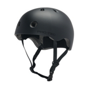 Pro-Tec Street Lite Mens Skate Helmet, Satin Black, medium