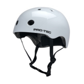 Pro-Tec Street Lite Mens Skate Helmet 2015, Gloss White, medium