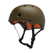 Pro-Tec Street Lite Mens Skate Helmet, Satin Army Green, medium
