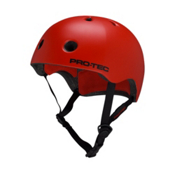 Pro-Tec Street Lite Mens Skate Helmet, Satin Blood Orange, medium