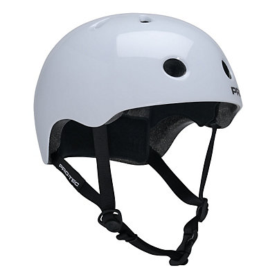 Pro-Tec Street Lite Mens Skate Helmet, Gloss White, viewer