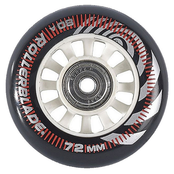 Rollerblade Wheel Kit 72mm/80A Inline Skate Wheels with SG5 Bearings - 8pack 2017, , 600
