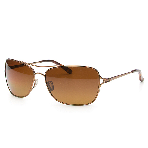 Oakley Conquest Polarized Womens Sunglasses, Rose Gold-Brown Gradient Polarized, 600
