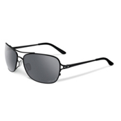Oakley Conquest Polarized Womens Sunglasses, Polished Black-Black Iridium Polarized, medium