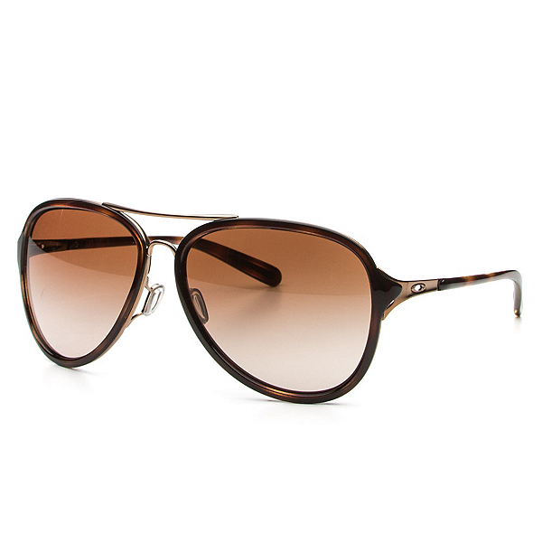Oakley Kick Back Womens Sunglasses, Rose Gold-Vr50 Brown Gradient, 600