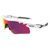 Oakley Radarlock Polarized Sunglasses, Polished White-Prizm Red, medium
