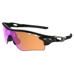 Oakley Radarlock Polarized Sunglasses, Polished Black-Prizm Trail, 256
