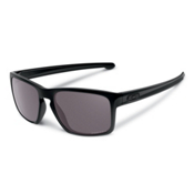 Oakley Sliver Polarized Sunglasses, Polished Black-Prizm Daily, medium