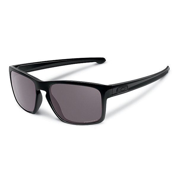 Oakley Sliver Polarized Sunglasses, Polished Black-Prizm Daily, 600