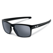 Oakley Sliver Polarized Sunglasses, Polished Black-Black Iridium Polarized, medium