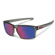 Oakley Sliver Polarized Sunglasses, Grey Smoke-Red Iridium, medium