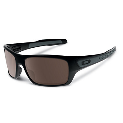 Oakley Turbine Sunglasses, Matte Black-Warm Grey, viewer