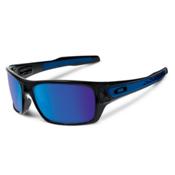 Oakley Turbine Sunglasses, Black Ink-Sapphire Iridium, medium